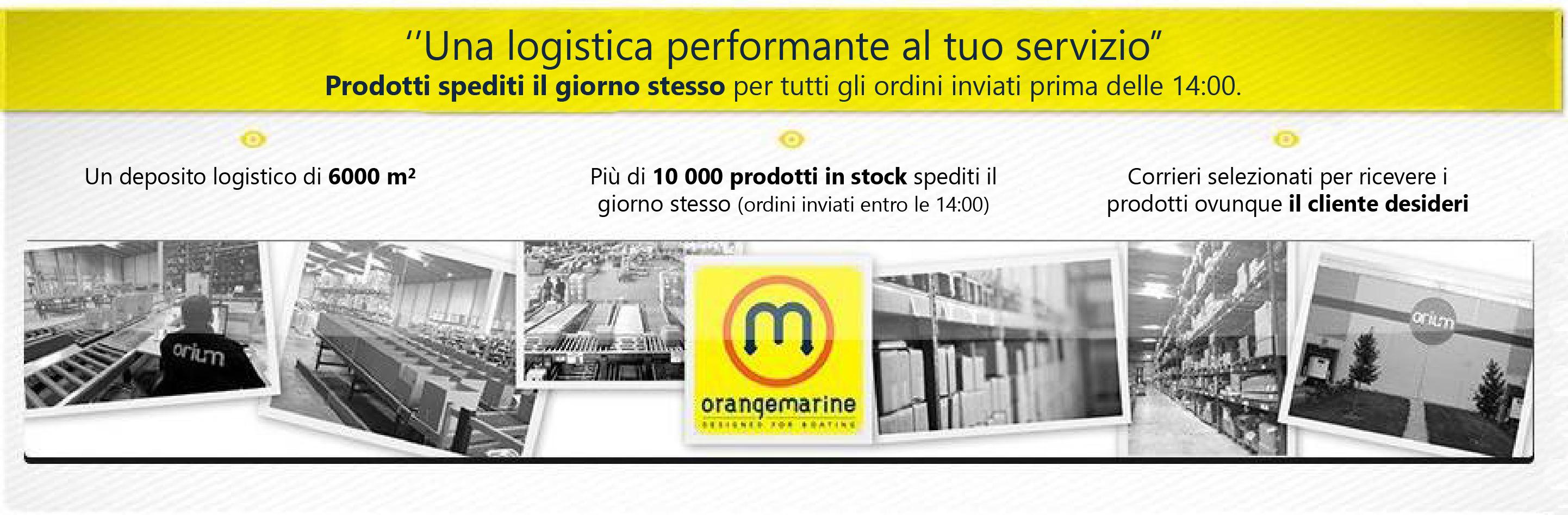 10.000 prodotti in stock spediti il giorno stesso e corrieri selezionati per trasportare le merci il più rapidamente possibile
